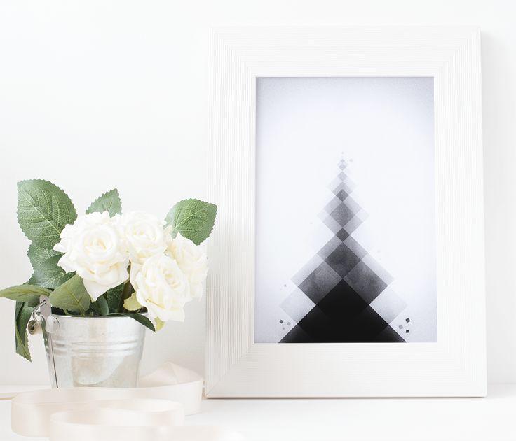 abstract geometric print, minimalist wall art