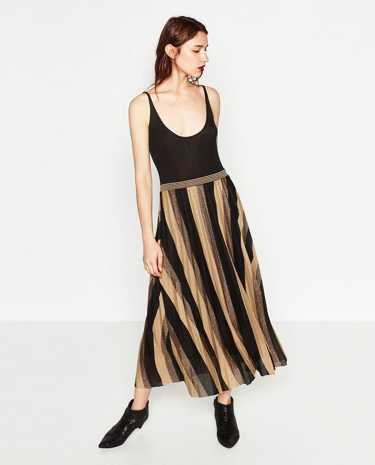 Image 1 of FINE PLEAT KNIT DRESS from Zara