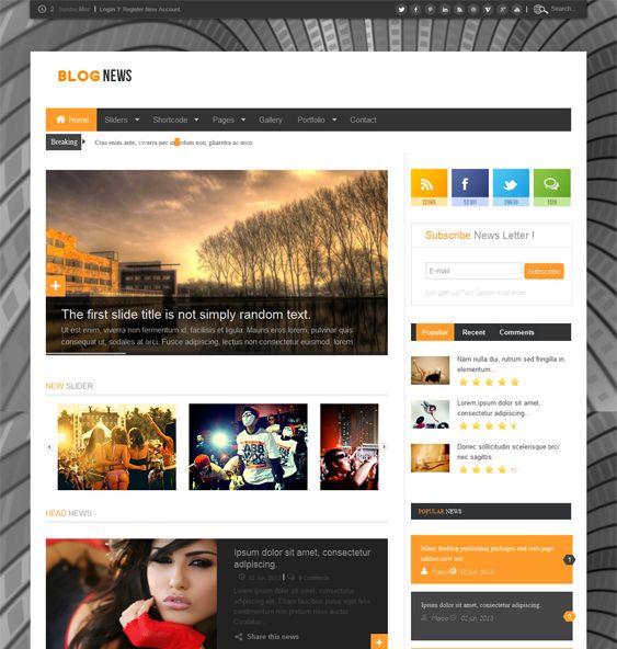 12 best 12 of the Best Joomla News Templates images on Pinterest ...