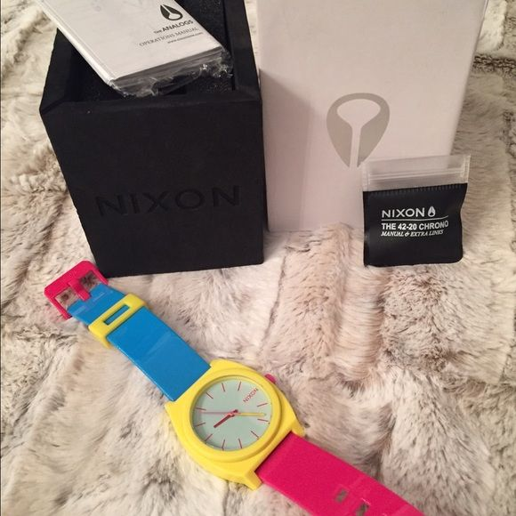 Nixon sports watch bright colored Brand New with tags Nixon watch. Bright vibrant color super cute sporty watch . Comes with box and all seen Nixon Accessories Watches