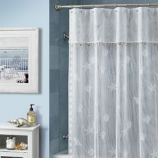 Buy Croscill  Bayhead Lace W x L Fabric Shower Curtain from at Bed Bath Beyond Bring the feel of a warm casual walk on beach into your bathroom with 18 best Curtins images Pinterest Bathroom ideas