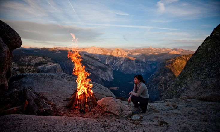 This is by far the best camping spot I've ever had and probably ever will have!  We had a warm fire and an amazing view of the Valley.