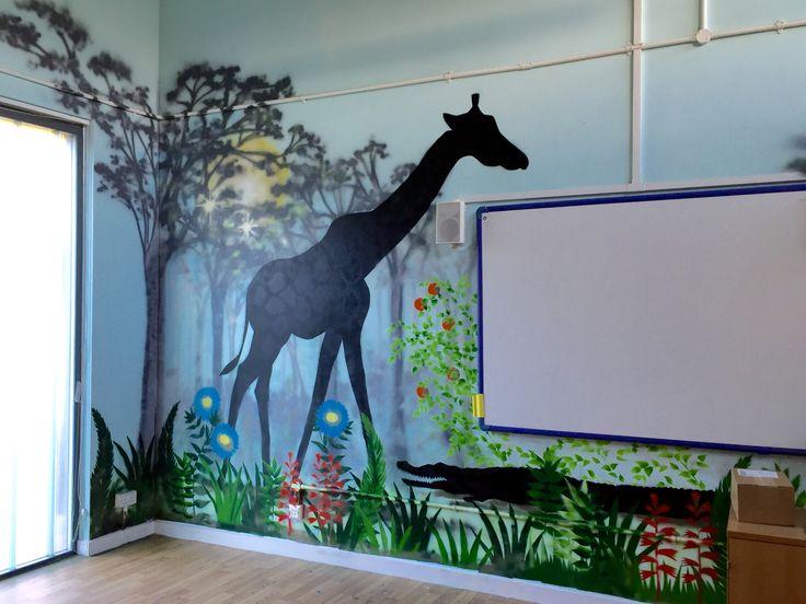 Mural at Kew Riverside Primary School by Helen Pettigrew, October 2016