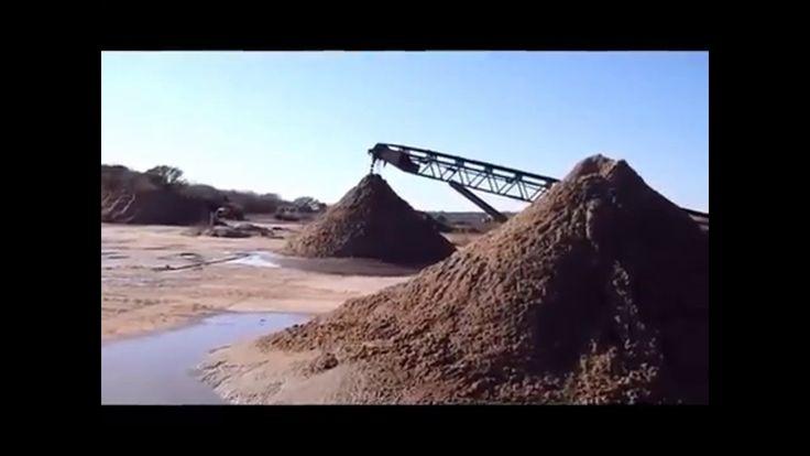 Испытания передвижного комплекса добычи и промывки песка в карьере