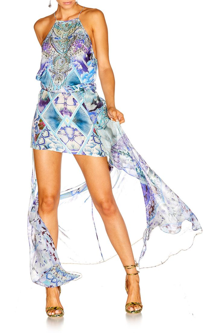 CAMILLA Blue Market Overlay Dress