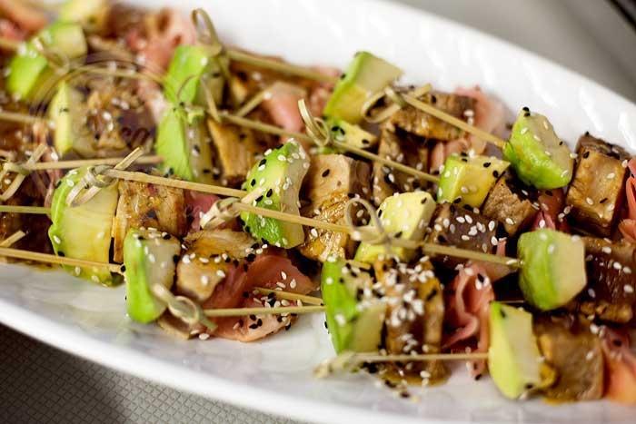 Tuna bombs - Tuna, wasabi. ginger and avo!