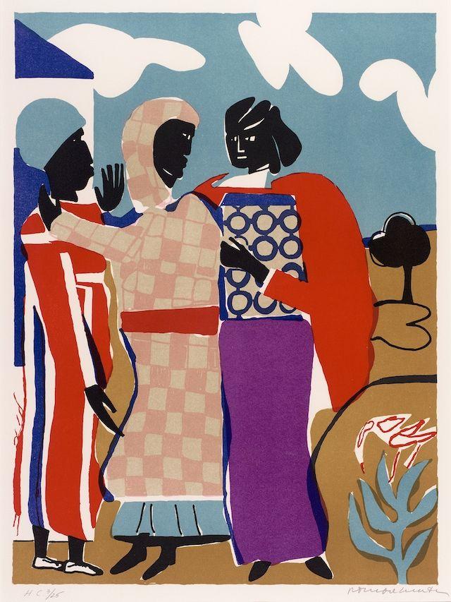 """scenerylabel: """" Three Women by Romare Bearden. Source > """""""