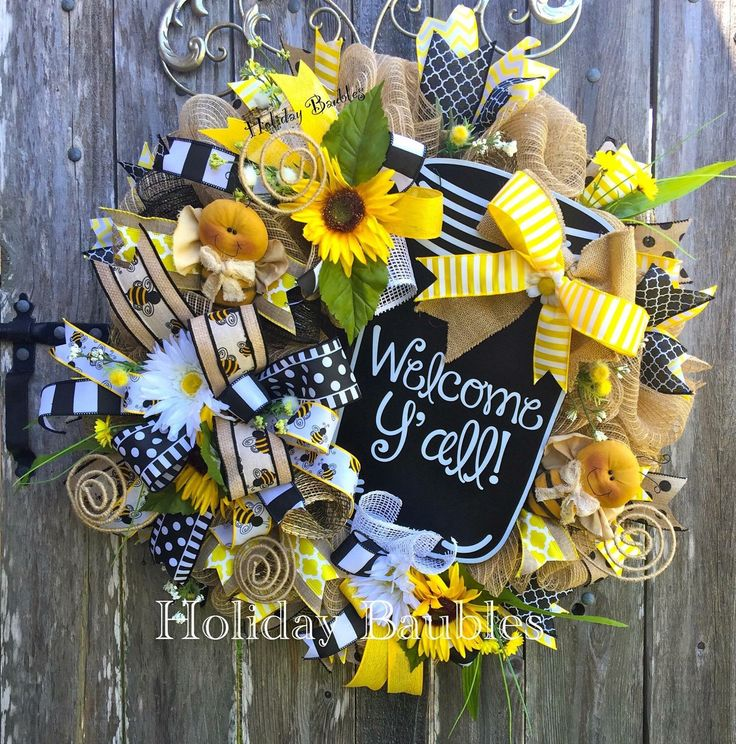 A personal favorite from my Etsy shop https://www.etsy.com/listing/288698823/welcome-summer-wreath-mason-jar-wreath