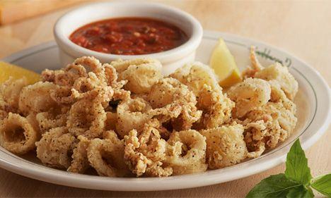 Calamari, Fried calamari and Lemon butter sauce on Pinterest