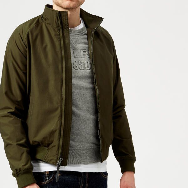 Woolrich Men's Shore Bomber Jacket - Dark Green (18.535 RUB) ❤ liked on Polyvore featuring men's fashion, men's clothing, men's outerwear, men's jackets, green, mens jackets, mens bomber jacket, mens flight jacket and mens blouson jacket