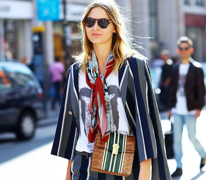 The Only Accessory You Need to Look Trés French via @WhoWhatWear