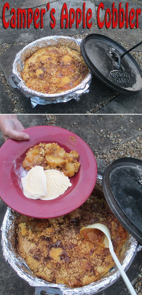 This apple cobbler recipe is great for anyone cooking outdoors with cast iron cookware for the first time.
