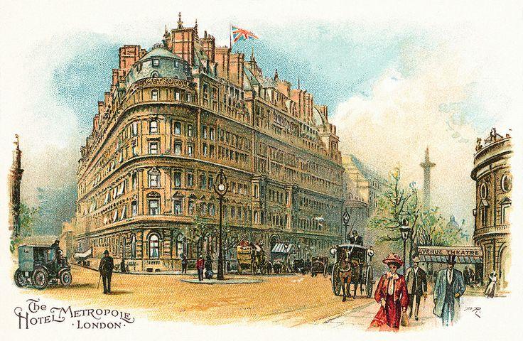 Hotel Metropole, London postcard