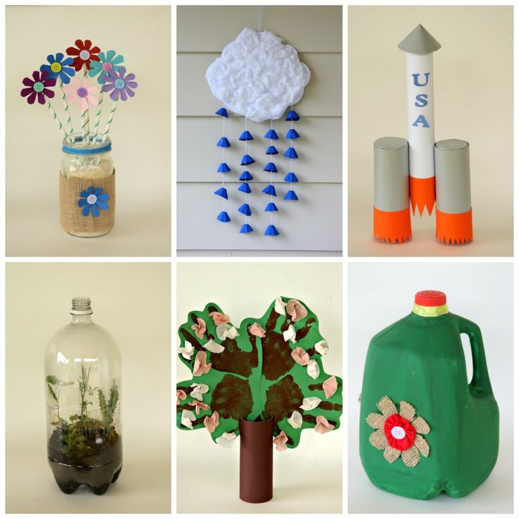 6 Kid Friendly Earth Day Crafts Made From Recycled Materials Craft Ideas For AdultsFun
