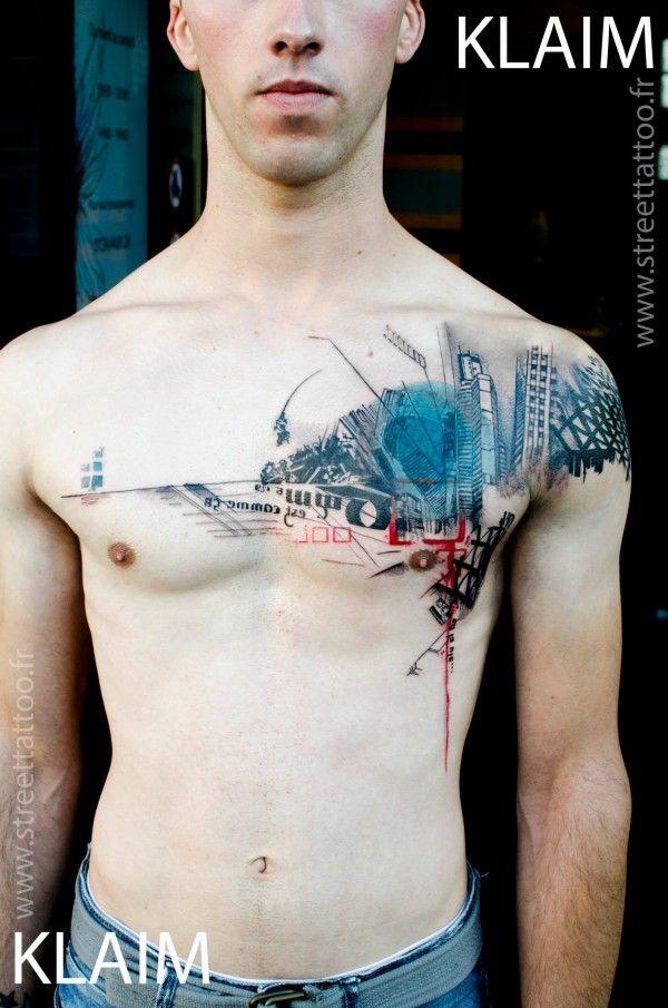 A arte abstrata de Klaim do Street Tattoo (França)