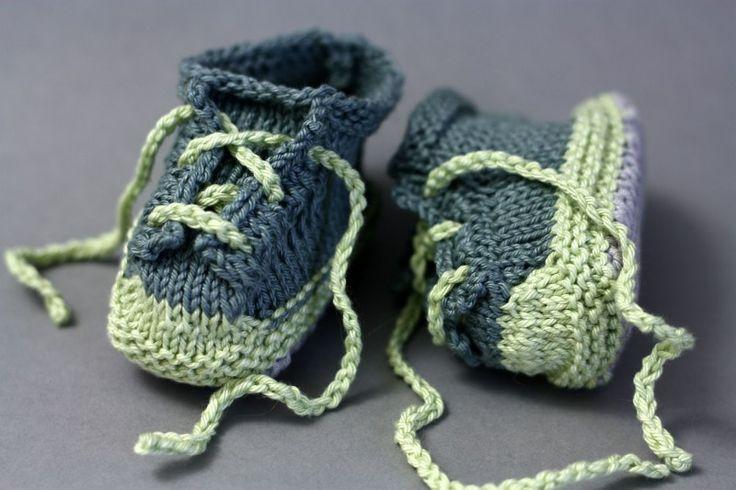 tuto baskets pour bébé au tricot