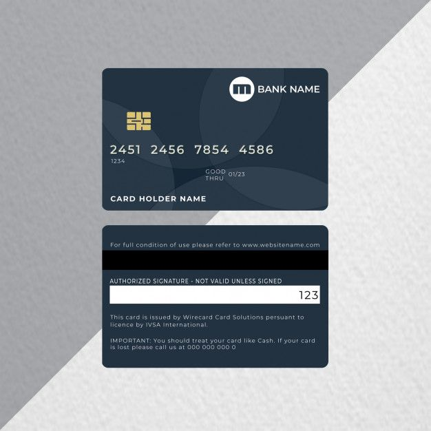 Credit Card Or Bank Card Premium Psd Free Psd Freepik Freepsd