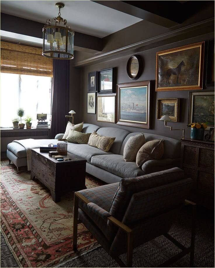 Cozy Casual Chic Living Room Decorations Ideas Dark