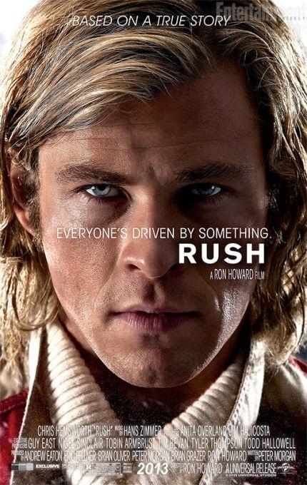 Primer póster de Rush, film protagonizado por Chris Hemsworth