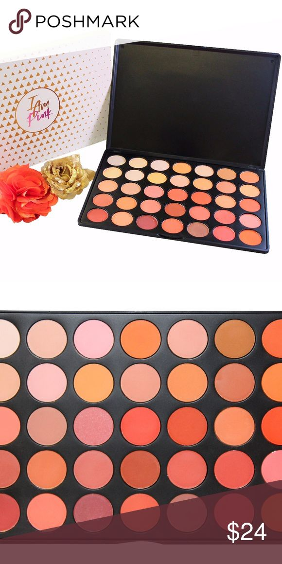 PRO35 Sunset 35 Color Eyeshadow Palette I Am Pink PRO35 Sunset make your eyes sparkle and pop with these 35 exciting colors. Its legendry colors are specially put together to give your eyelids a premium look. This sleek eyeshadow is composed of super colors such as the Meyer Yellow, Passions Fruit, Apricot Flower, and the lighter Martini, all put together to give you a sophisticated appearance. I Am Pink Makeup Eyeshadow