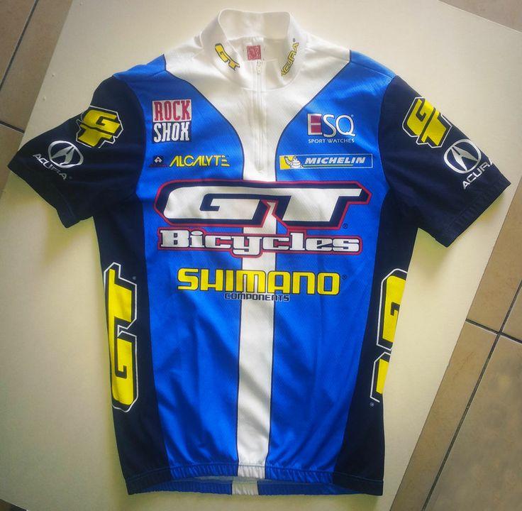 Vintage Gt Bicycles Rock Shox Shimano Retro Pro Mtb Team Wear