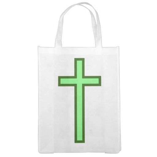 Large, Green-Colored Christian Cross
