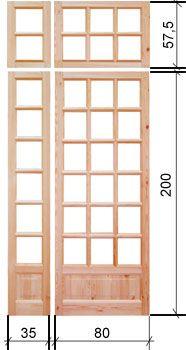 Межкомнатные деревянные перегородки под стекло из массива сосны по низким ценам в Москве от производителя  5350