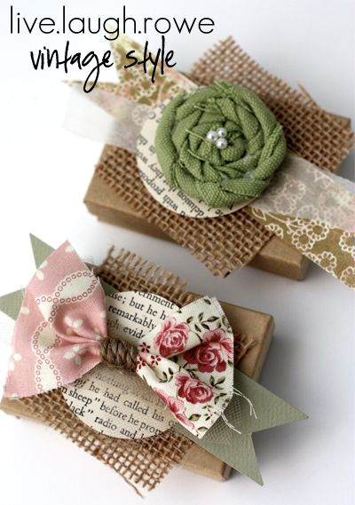 Vintage Inspired Favors and Gift Wrap with LiveLaughRowe.com #vintage #favors #giftwrap (with tutorial)