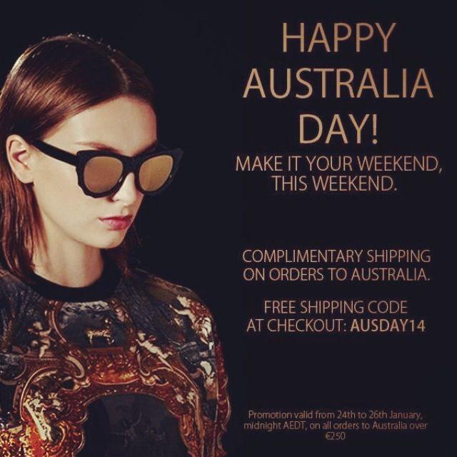 Australia Day Special: Free shipping to Australia at www.sunglasscurator.com