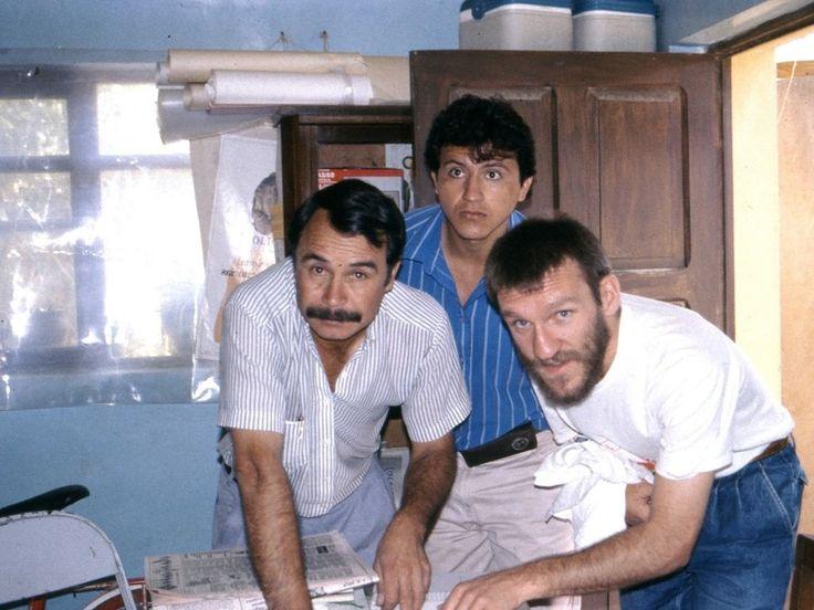 José Ántonio Bastón y el equipo en emergencia durante la epidemia de cólera en Cochabamba, Bolivia (1992)