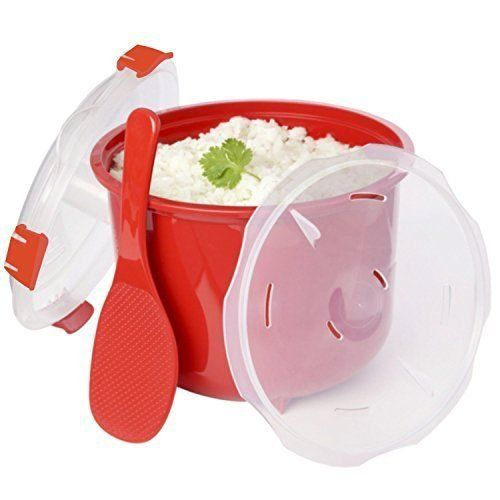 Addie's Kitchen Microwave Rice Cooker with Accessories 1 Rice Spoon - 1 Lid w/ . -- Visit the image link for more details. #RiceCookers