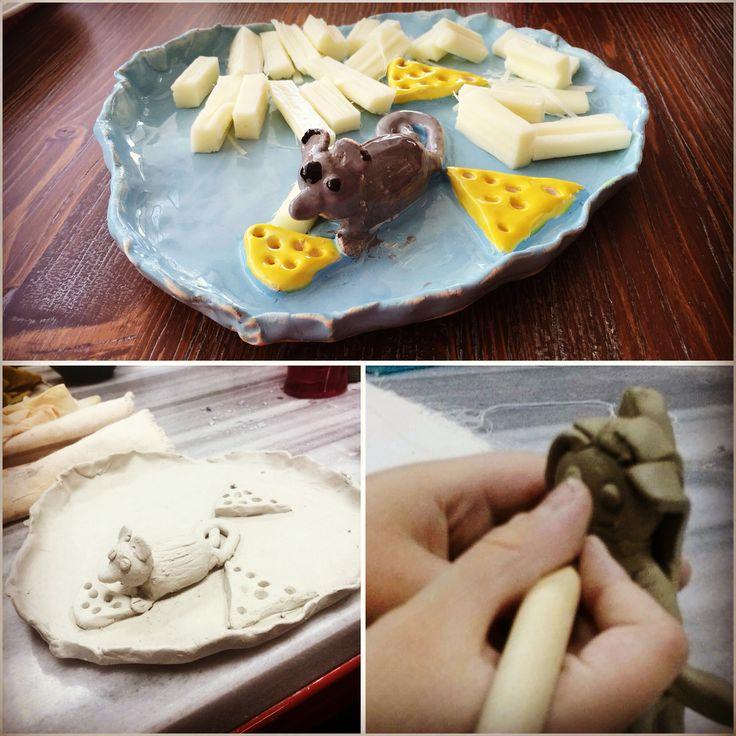 Güneş'in peynir tabağı. #seramik #ceramic