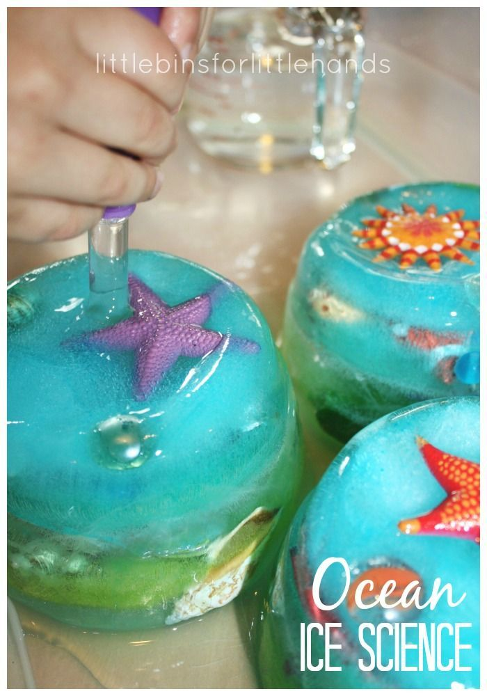 This simple to set up ocean sensory science activity is perfect for ocean learning. Also, the ocean sensory activity is a great ice melt experiment.