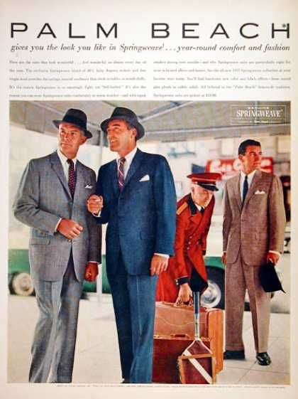 New vintage inspired 1950 men's suits. Find that classic fit men's suit style from the 1950s in retro colors, textures and cuts.