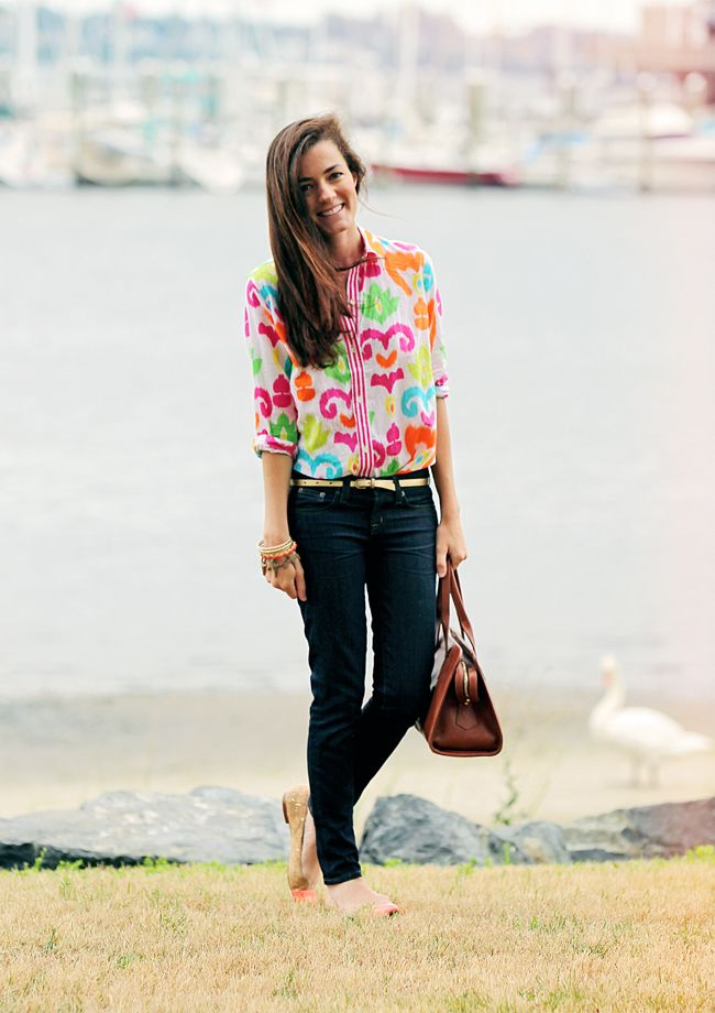 Southern Charm: Sarah Vickers, Hope Blouses, Cute Tops, Shirts, Bright Color, Outfit, Styles, Dark Jeans, Elizabeth Hope