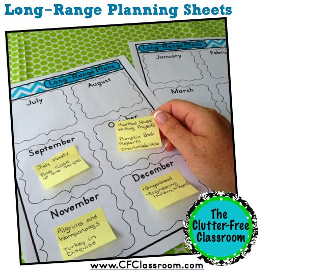 Curriculum Planner--use sticky notes to play the year--long-range
