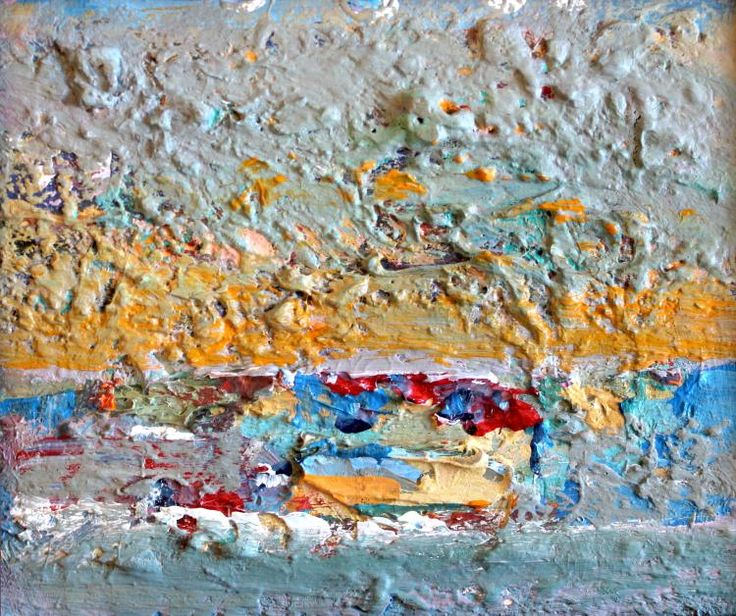 """Paul Chidlaw (1900-1989), """"Abstract by the Sea"""", Original oil painting"""