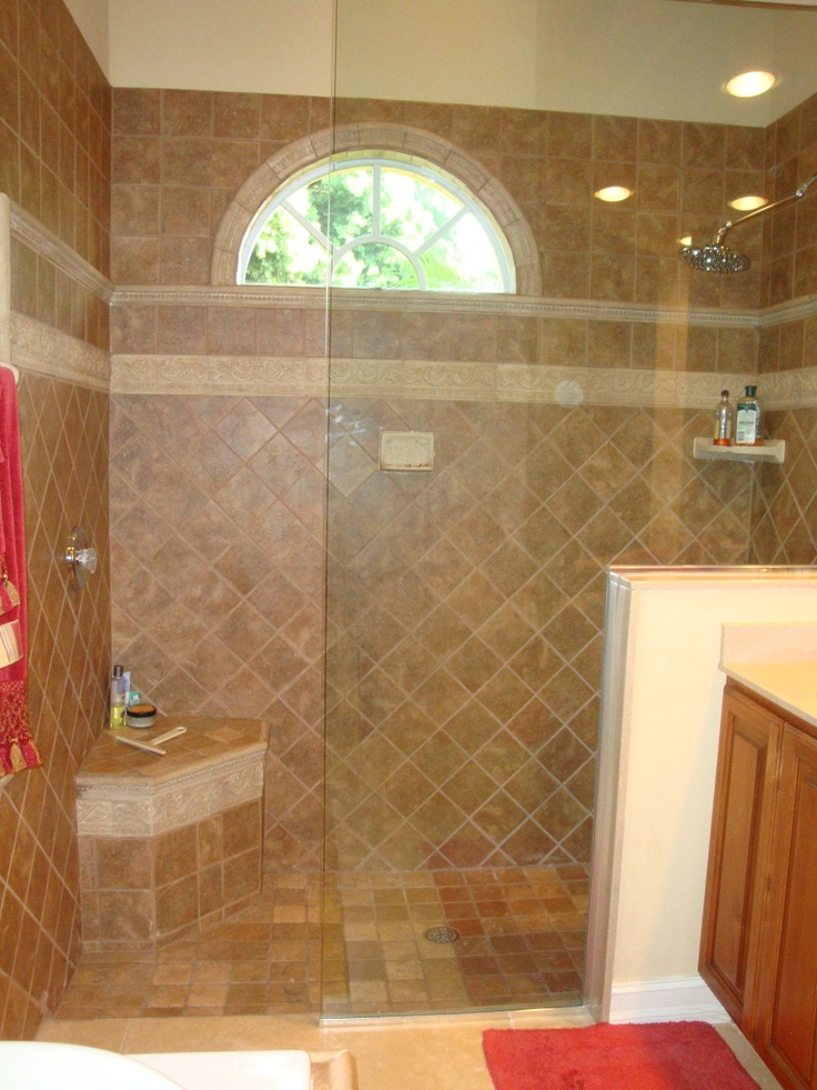 83 best WALKIN Showers images on Pinterest Bathroom Bathrooms