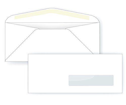 #10 Right Hand Window Envelope - 24# White (4 1/8 x 9 1/2) - Window Envelope Series (Box of 500) #Right #Hand #Window #Envelope #White #Series #(Box