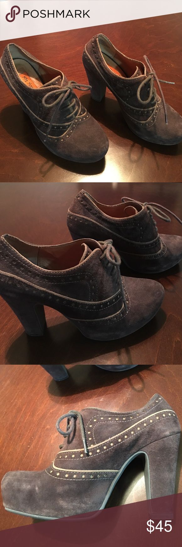 "NEW🎉Miss Mooz Suede Oxfords BRAND NEW Miss Mooz Brown Suede Oxfords. Never worn.  Beautiful detail and great looking shoes!  4"" heel with 1"" platform. Miz Mooz Shoes"