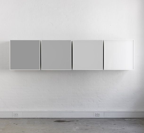 : Shades Of White, Ikea Grey Kitchens Cabinets, Shades Of Grey Paintings, Cabinets Storage, Shades Of Grey Cupboards, Ivar Ikea, Grey To White Ombre, Gray Wall, Grey Offices Furniture