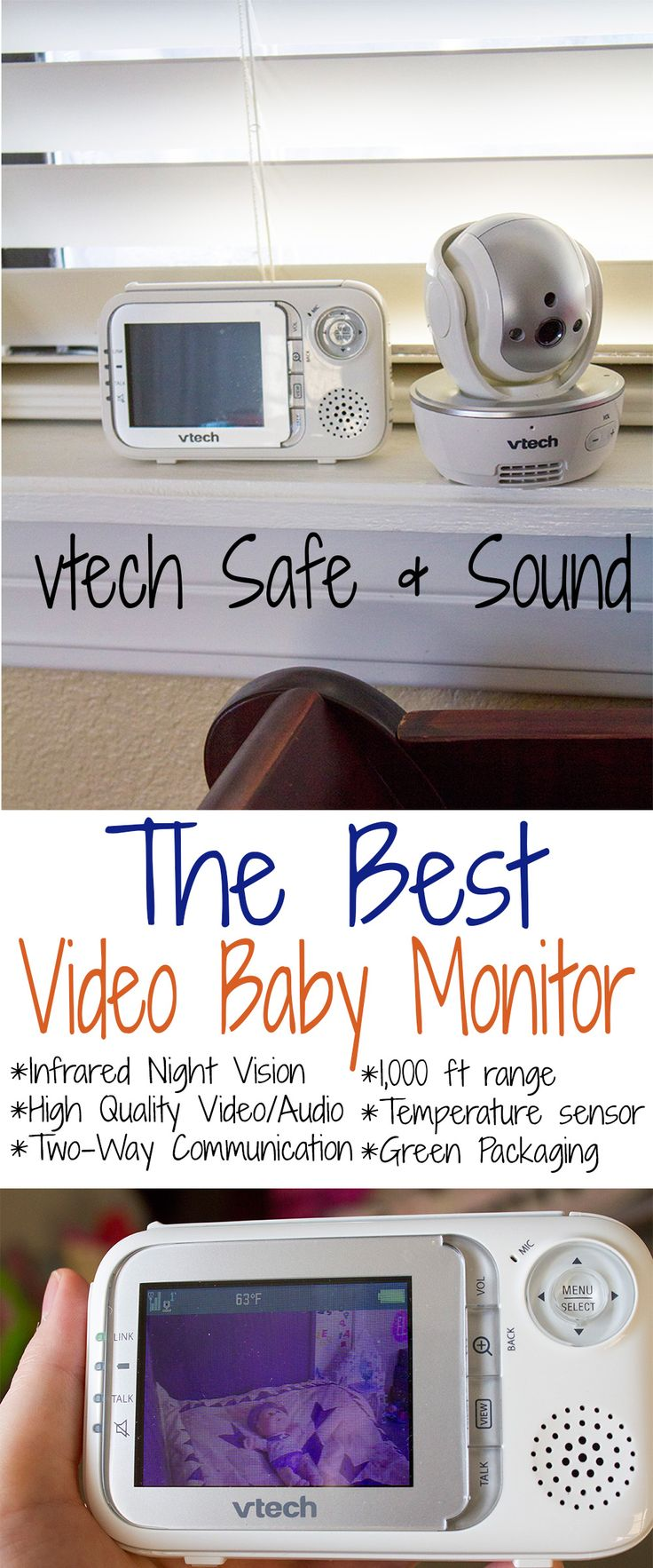 the best baby monitor vtech safe sound full color video high quality audio pan tilt and. Black Bedroom Furniture Sets. Home Design Ideas