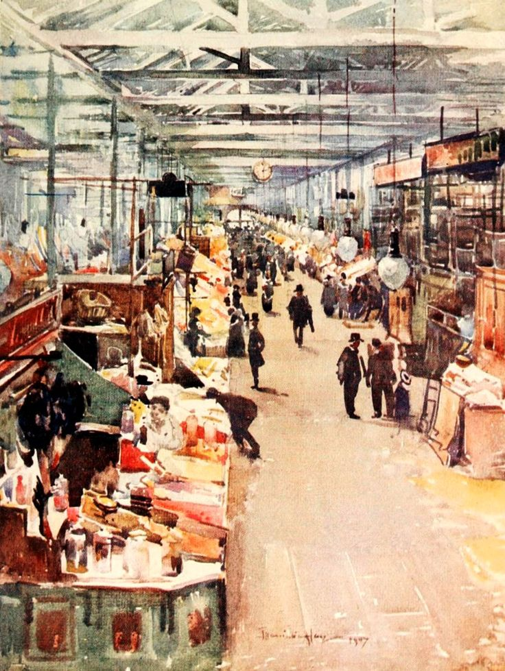 Hay, James Hamilton (1874-1916) - Liverpool 1907, St. John's Market. #england