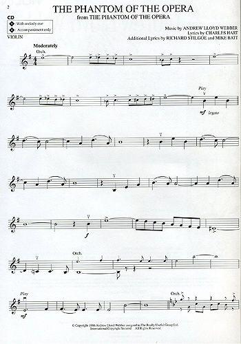 Violin Sheet Music Popular Songs | Andrew Lloyd-Webber - Instrumental Play-Along : Andrew Lloyd Webber ...