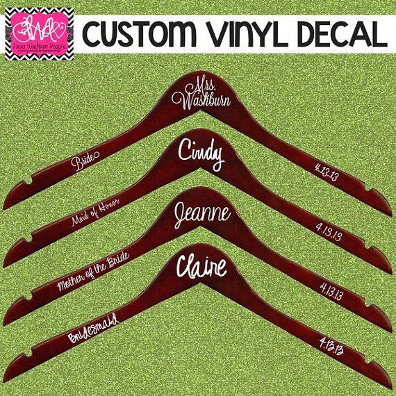 Best DIY Wedding Hangers Ideas On Pinterest Bridesmaid Dress - Diy vinyl wedding hangers
