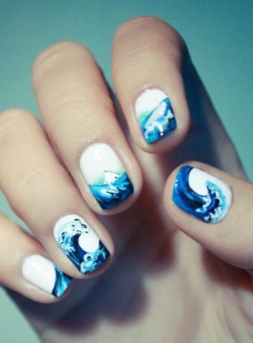Ocean inspired mani
