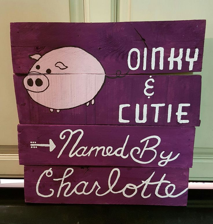 Personalized for a sweet girl who named the piggies at the fair.