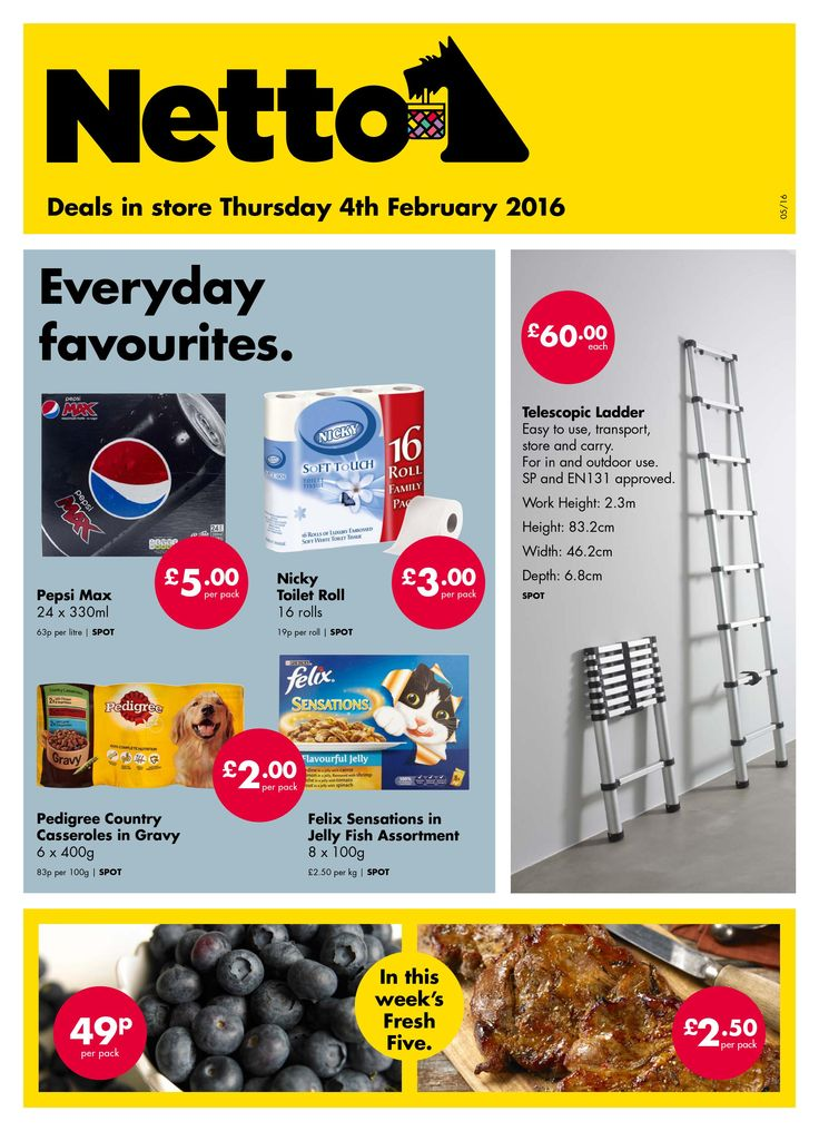 NettoOffers Leaflet promotions week valid from Thursday4/2/2016 – Wednesday 10/2/2016. Find the best andmoney saving leaflets forNettoUK.