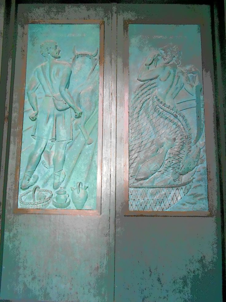 Puerta entre la Capilla del Obispo y la Iglesia de San Andrés