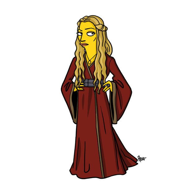 "Cersei Lannister | More ""Game Of Thrones"" Characters Drawn As ""The Simpsons"""